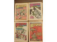 28 HOTSPUR & HOTSPUR & CRUNCH COMICS BRITISH WEEKLY COMIC HURRICANE HUTCH KING COBRA ETC SEE PHOTOS