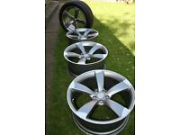 Audi 20 inch ALLOY WHEELS x 4 with brand new tyres 275/40 ZR20 106 WXL