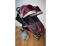 Purple Baby Jogger City Mini Double pushchair **can post**