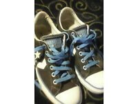 Converse all stars brown suede UNISEX (size M6, F8)