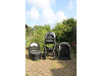 UPPAbaby Vista Black Pushchair with Rumble Seat and Pram - Good Working Order