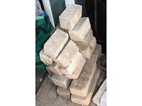 Reconstituted stone bricks - suitable for raised beds/allotments
