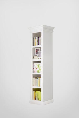 wit smalle boekenkast 50 x 40 x 190 cm