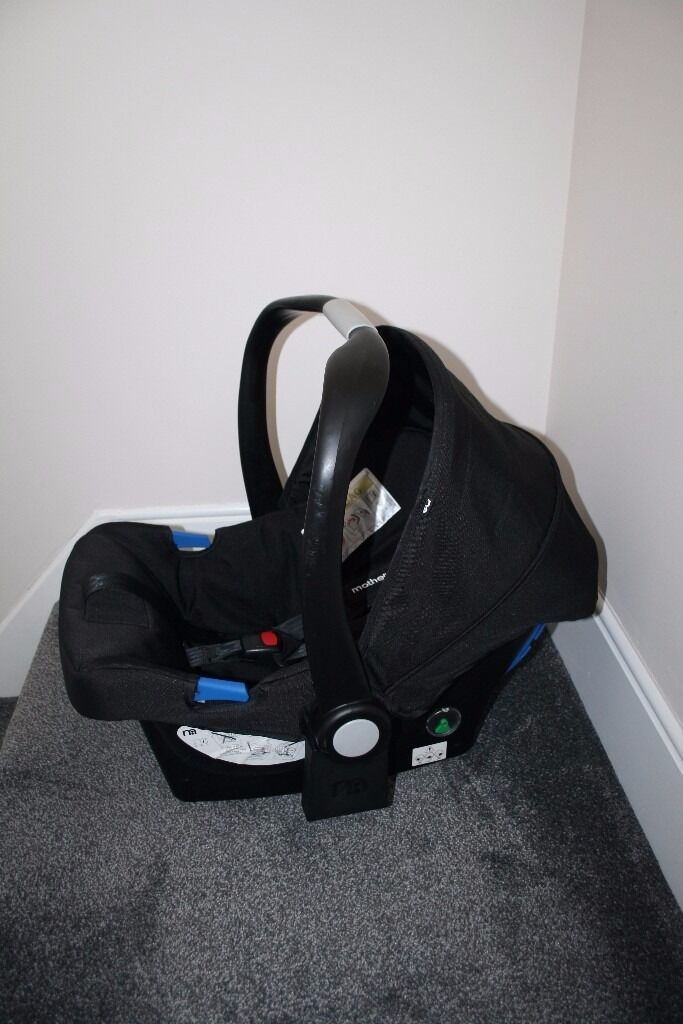 Black Mothercare Xpedior pram Rear Facing Car Seat 0+ CAN POST