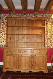 Large Pine Dresser. Use with or without shelf top.