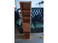 Wooden cd/dvd shelving