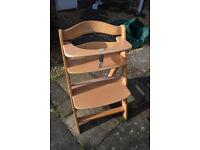 High chair wooden trip trap