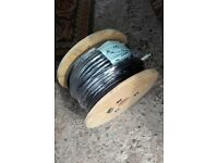 outdoor electrical cable 50m reel. 4core 1.5mm, steel wire armoured.