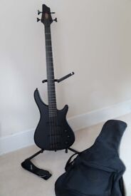Bass Guitar & case for sale (Stagg)