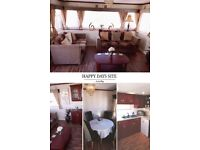 6 berth family caravan for hire on happy days site in towyn, north wales