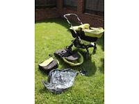 Silver Cross Wayfarer Pushchair and Carrycot Stroller