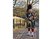 Pipers No 1 Full Dress Uniform with Hardie Bagpipes