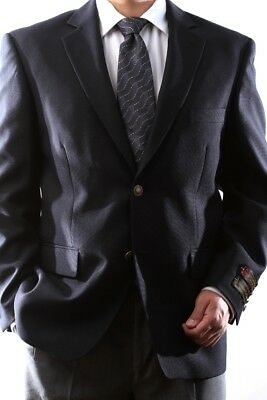 MENS SINGLE BREASTED 2 BUTTON NAVY BLAZER SIZE 40S, PL-J60212C-NAV