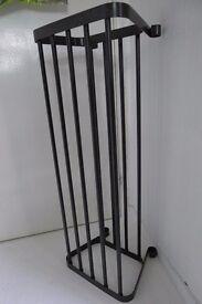 Ikea PORTIS Large Metal Designer Shoe Stand Rack Storage Black Steel Hall