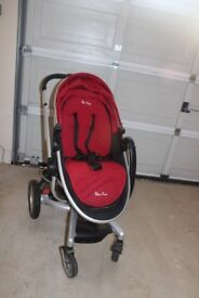 Red silver cross surf 2 - pushchair /pram and rain cover