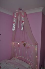 Single Bed Pink Canopy