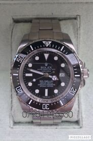 Told deep sea dweller luxury automatic divers watch brand new with Swiss box oyster BLUE SUPERLUME