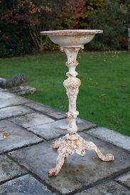 Victorian style cast iron bird bath