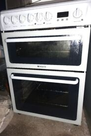 Hotpoint HAE60P S Double Electric Cooker