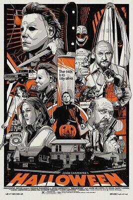 "RARE Halloween Michael Myers 24""x36"" Screen Print Limited Edition"
