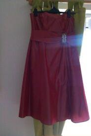 Debenhams red dress, size 12.