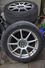 18 inch multi-fit alloy wheels with tyres had them on a ford galaxy mk2 so they will fit vw