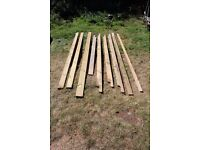 Treated timber. All clean timber - no fixings.Great for Decking Fencing Trellising Pergola Bin store