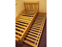 Single bed with trundle drawer