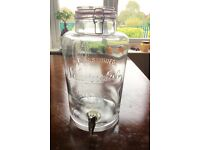 Glass container with 4 jars