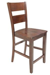 Six Sturdy Dining Chair Counter Height In Espresso