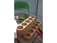 Wooden Spice Rack, holds 10 pots, £7