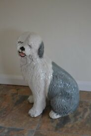 FOR SALE POTTERY OLD ENGLISH SHEEP DOG