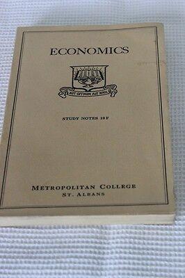 """LIBRO VINTAGE  INGLESE """" ECONOMICS"""""""