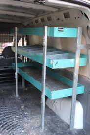 Metal shelves for Vauxhall Combo Van