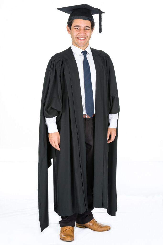 MASTERS GRADUATION GOWN ACADEMIC GOWN CAMBRIDGE PATTERN UNIVERSITY ...
