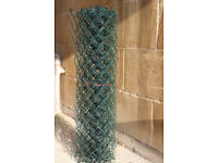 5 metres of 900mm green PVC coated chain link fence