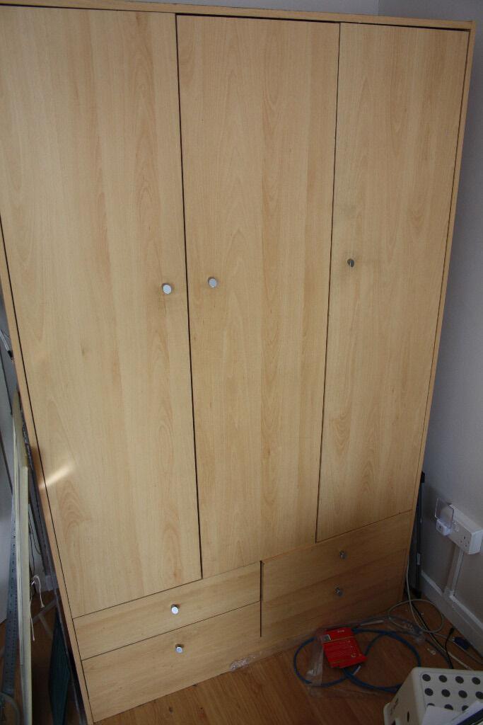 3 door 4 drawer wardrobe argos malibu in whitechapel. Black Bedroom Furniture Sets. Home Design Ideas