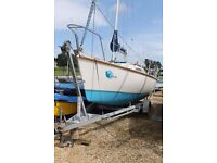 A great little 6.1 m/20 foot cruising boat, 4 berth, head, lifting keel, (includes trailer)