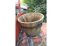 Free small wooden garden planter