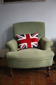 Green old vintage armchair