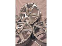 "17"" inch 100+ Team dynamics alloy wheels 4x100 4x108 Astra Corsa Civic Mx5 Clio Polo BMW Mini Fiesta"