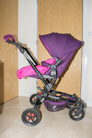 Jané Epic Matrix Pushchair Travel System – Lilac With Iso fix base, Mattress