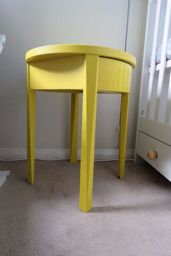 Ikea stockholm bedside table yellow excellent condition in ikea stockholm bedside table yellow excellent condition watchthetrailerfo