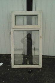White upvc window with top opening fanlight,