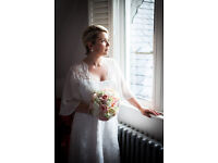 Lace designer Joanna Hehir Wedding Dress with cover up, Ivory, beautiful, great condition