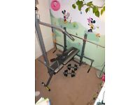 multi gym very good cond. collection from surbiton plus training bike and weights