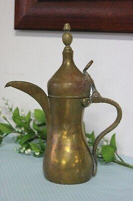 alt Kaffeemaschine Araba Messing\ Dallah / Topf Beduinen h cm 29