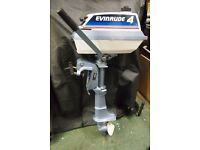 Evinrude 4HP Outboard Engine .