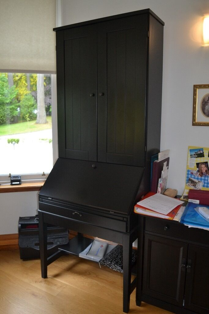 Ikea Hemnes Secretary Desk With Hutch