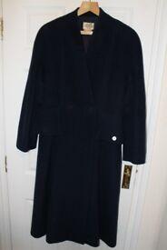 Hermes Beautiful Genuine Navy Cashmere Coat - £1,200 ono